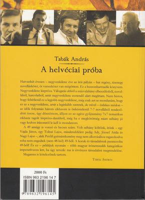 Tabák András  A helvéciai próba (Budapest b863b6618c